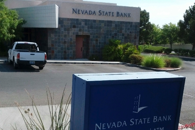 A Nevada State Bank branch at 8400 W. Lake Mead Blvd. in Las Vegas is seen Friday. Zions Bancorporation, parent of Nevada State Bank, on Monday reported net income of $55.4 million, compared to $5 ...