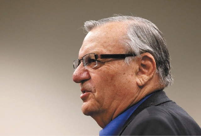 Maricopa County Sheriff Joe Arpaio says David Lee Simpson of Bath, N.Y., has been arrested in Phoenix after making threats on Twitter against two Turner Broadcasting anchors.