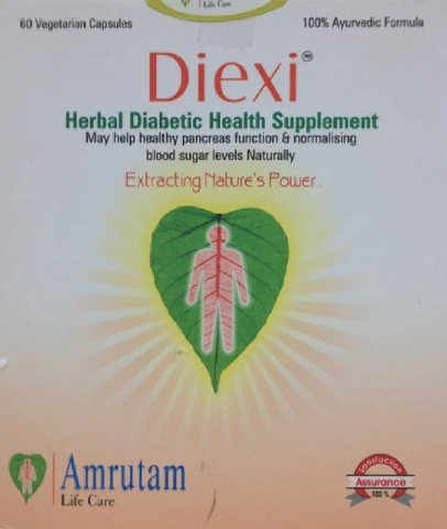 """Diexi is sold as a traditional Indian """"herbal formula"""" but actually contains metformin, the most common prescription drug used to treat diabetes. The product is sold by Amrutam Life Care, of Surat ..."""