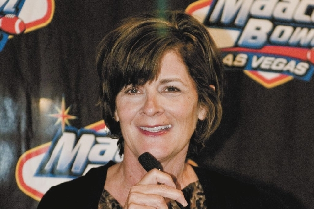 UNLV interim athletic director Tina Kunzer-Murphy, show in this 2010 file photo, is reorganizing the university's athletic department.