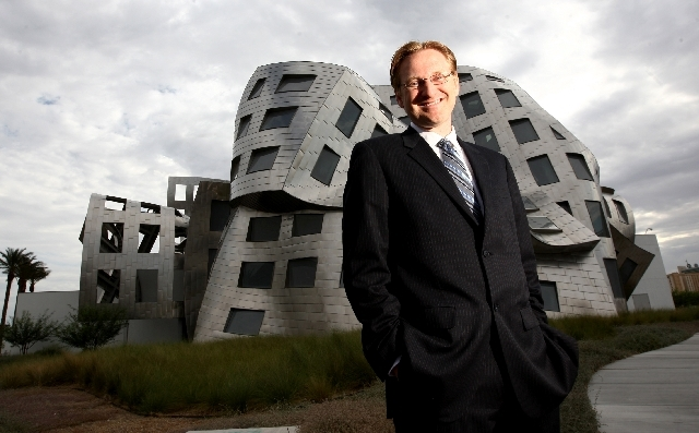 Dr. Timothy West stands outside the Cleveland Clinic Lou Ruvo Center for Brain Health in downtown Las Vegas. He directs the center's program to help people with multiple sclerosis.