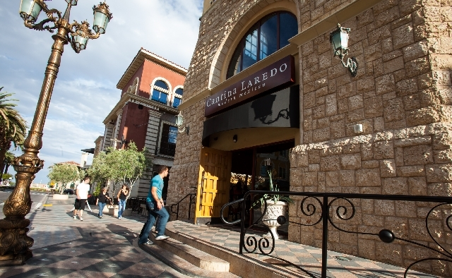 Cantina Laredo, in Tivoli Village, is a small chain that has great margaritas in a charming setting, but the service lacked enthusiasm and the food was not top-notch.