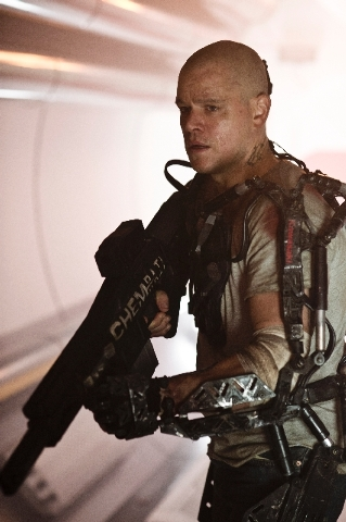 "Matt Damon stars in ""Elysium"" about the have-nots on Earth vs. the haves in orbit."