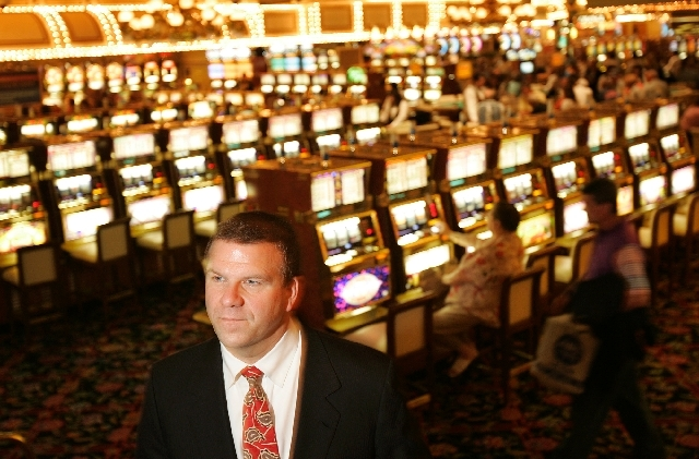 Tilman Fertitta, shown inside the Golden Nugget in Las Vegas, is expanding his business empire through casino acquisition and development.