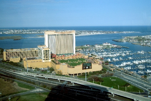 The Golden Nugget Atlantic City, as seen from the top of the Water Club at Borgata, is owned by Tilman Fertitta's Houston-based Landry's Inc.