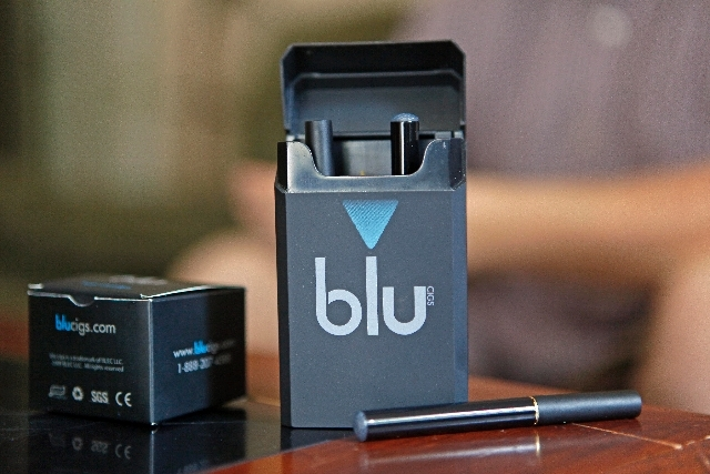 A package of blucigs electronic cigarettes are shown in Asheboro, N.C.