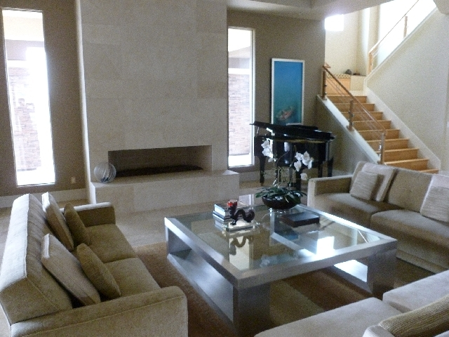Larger rooms require larger furniture to keep everything in proper scale.