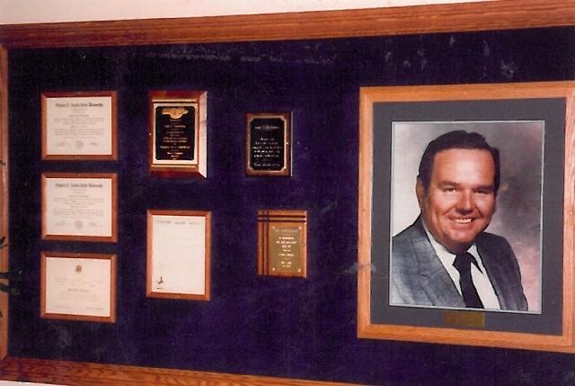 A photo of school namesake John C. Vanderburg hangs in the elementary school that bears the former Guinn Middle School principal's name.