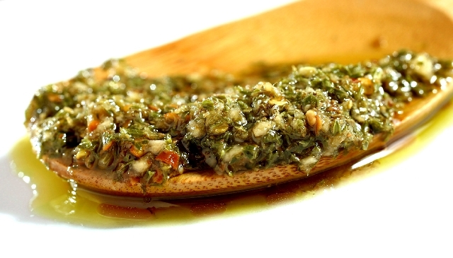 Chimichurri sauce is photographed in the R-J studio on Thursday.