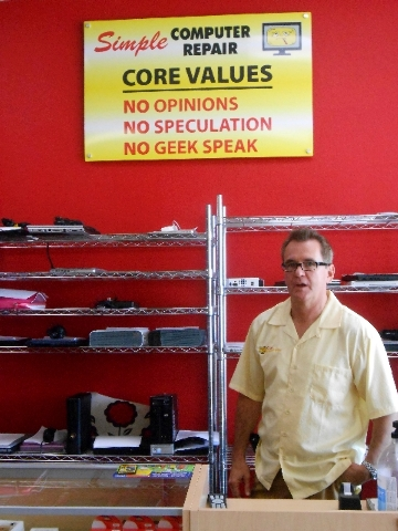 Jim Brock's Simple Computer Repair embraces three core values: no opinions on electronic brands, no speculation on problems without investigation and no geek speak.