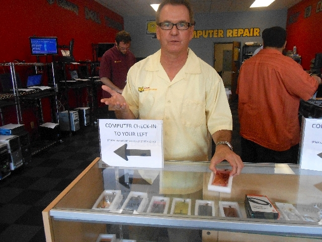 Jim Brock stands ready to greet customers at Simple Computer Repair.