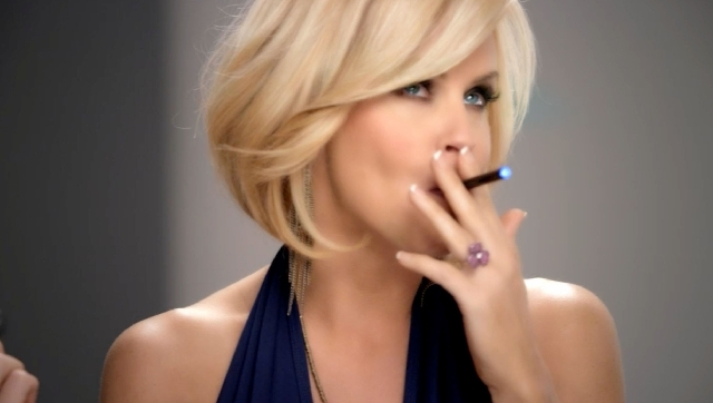 This undated image provided by Resound Marketing shows a screen grab of the new Blu Ecigs advertisement featuring Jenny McCarthy.