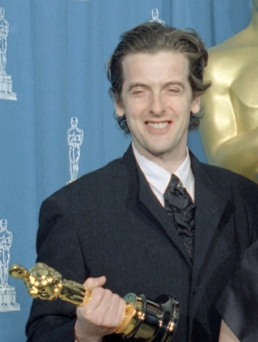 "Holding his Oscar for Live Action Short Film Peter Capaldi is awarded for ""Frank Kafka's It's Wonderful Life,"" at the 67th annual Academy Awards in Los Angeles, USA, in this file photo dated Monda ..."