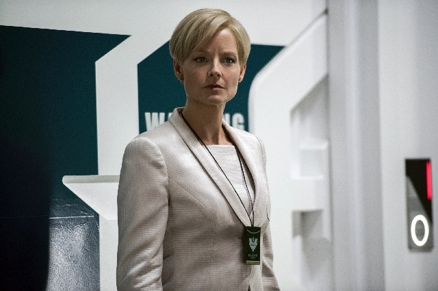 "This film publicity image released by TriStar, Columbia Pictures-Sony shows Jodie Foster in a scene from ""Elysium."""