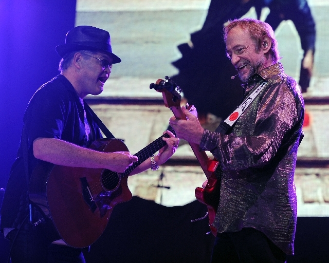 Peter Tork of The Monkees performs during the Mid Summers Night Tour at the Mizner Park Amphitheater on Saturday, July 27 in Boca Raton, Florida