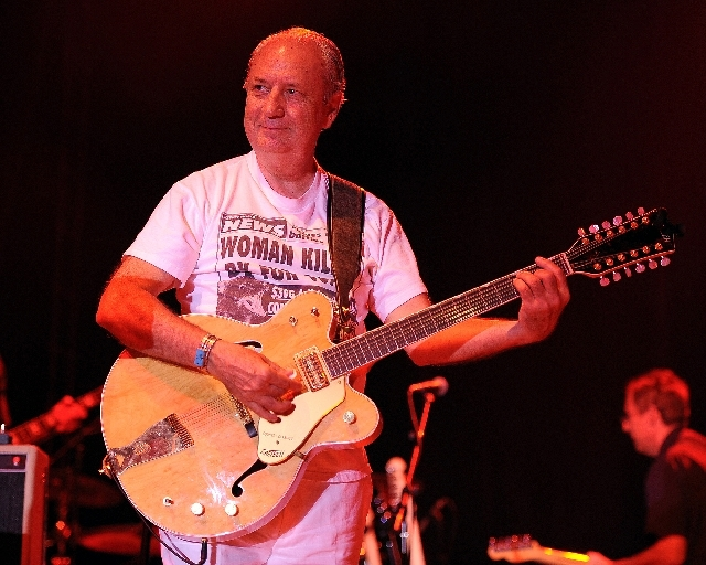 Michael Nesmith of The Monkees performs during the Mid Summers Night Tour at the Mizner Park Amphitheater on Saturday, July 27 in Boca Raton, Florida.