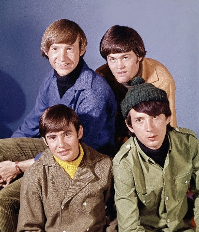 """Pop musical group, """"The Monkees"""" are shown in this Oct. 20, 1966 photo. At top are: Peter Tork, right, and Mickey Dolenz. At bottom are: David Jones, left, and Mike Nesmith."""