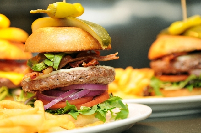 A California burger is served with cheese, bacon and avocado at Bon Chef Cafe in Henderson. The international flavor of the menu features some American favorites.