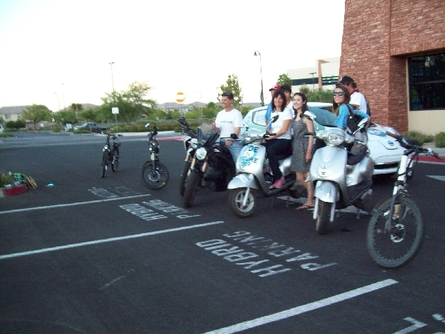 Ride the Future Tour trekkers stopped in Las Vegas on their cross-country trip using electric vehicles.