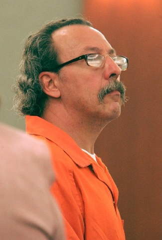 James Meegan appears in Clark County District Court on June 8, 2006, during a hearing into the death of his 10-month-old daughter, Francine, who died in October 1990 after being shaken.
