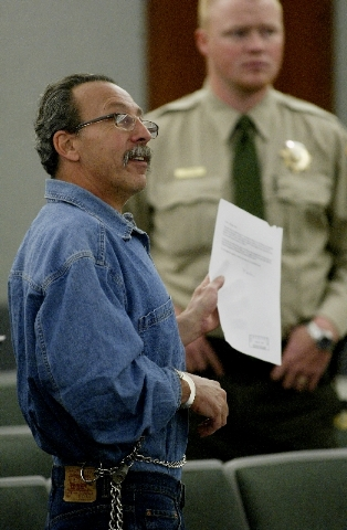 James Meegan appears in Clark County District Court on March 22, 2007, in connection with the death his 10-month-old daughter.