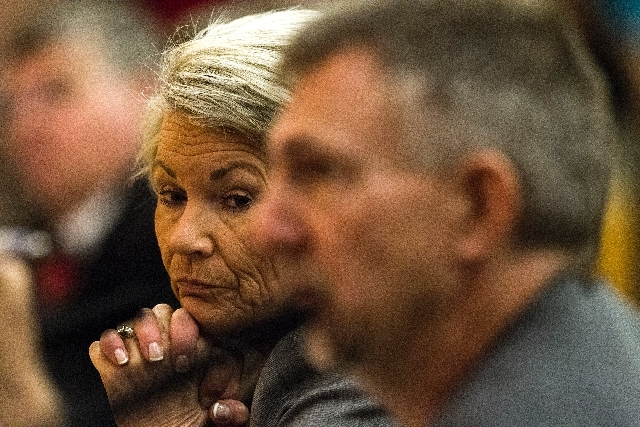 Pat Mulroy, general manager of Southern Nevada Water Authority, appears Tuesday before the Clark County Commission. Mulroy said it's time to consider federal disaster relief to keep Lake Mead from ...