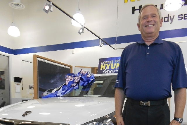 Veteran automobile sales consultant Amos Maly recorded more than 30 transactions in his first month with Planet Hyundai Centennial. He started his sales career selling Hyundais in 1986.