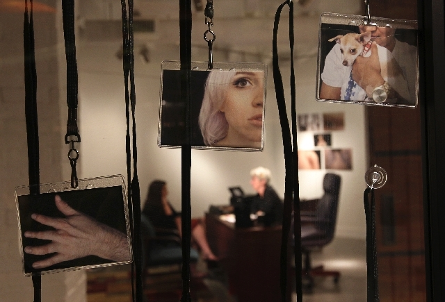 "Artist Abby Robinson speaks with a participant for her project entitled ""Body Imaging"" at the P3 Studio in the Cosmopolitan in Las Vegas on Aug. 9. The project tries to incorporate the experiences ..."