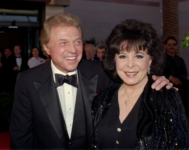 "Steve Lawrence and Eydie Gorme arrive at the black-tie gala called ""Thanks Frank""  honoring Frank Sinatra in Las Vegas."