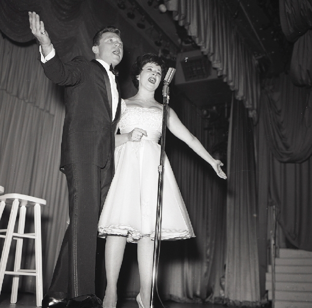 Steve Lawrence and Eydie Gorme, shown performing at the Sahara in March 1961, were partners on stage and in life. Gorme died Saturday at Sunrise Hospital at age 84.