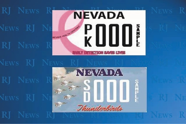 Dmv offers two new specialty license plates las vegas for Department of motor vehicles carson city nevada