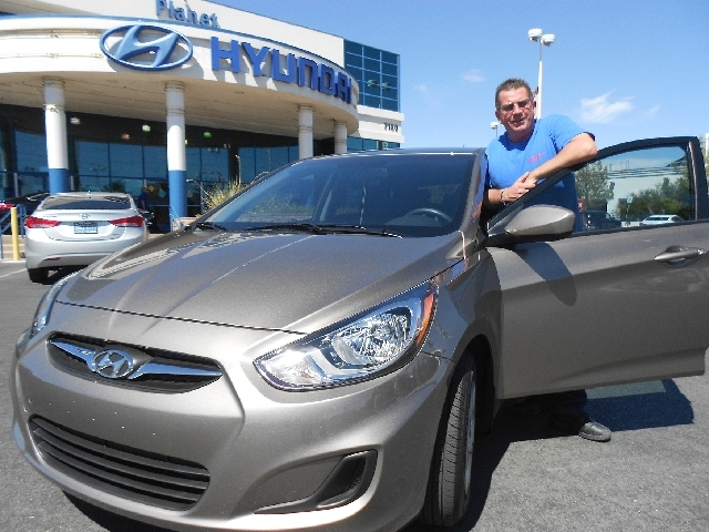 Las Vegas resident Kirk Peters likes the reliability and features of his new Hyundai Accent.