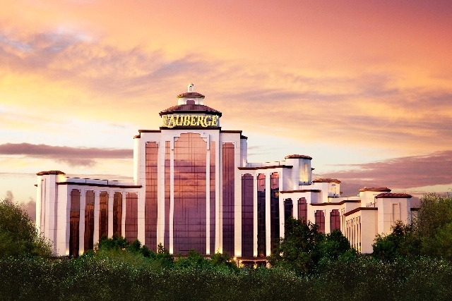 Pinnacle Entertainment's L'Auberge du Lac hotel-casino in Lake Charles, La., is seen after its 250-room expansion.