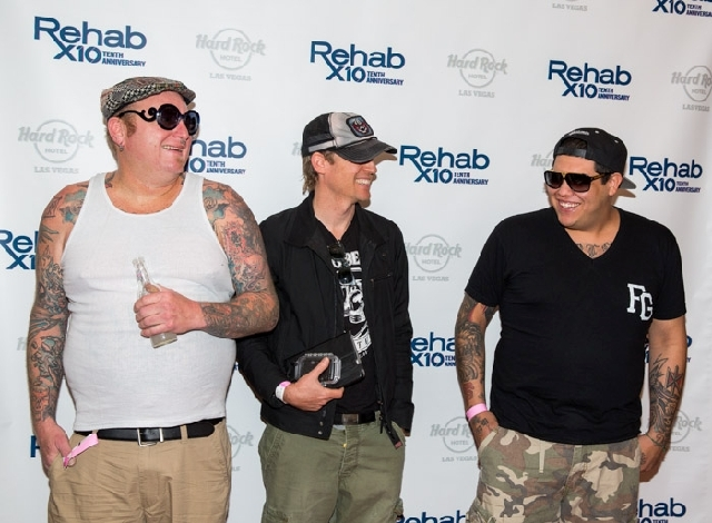 """Sublime with Rome members enjoyed their stint at Hard Rock Hotel's Rehab pool in April. """"It's a good life,"""" said singer Rome Ramirez, right."""