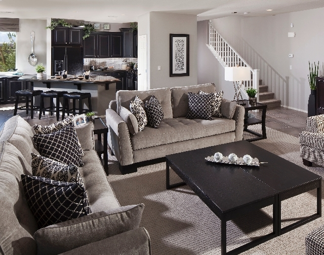 Harmony Homes' Delhi Estates in North Las Vegas offers floor plans similar to those at its Avalon community, including this one that measures 2,573 square feet.