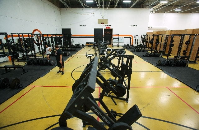 Chaparral High School's weight room is filled with new work out equipment.