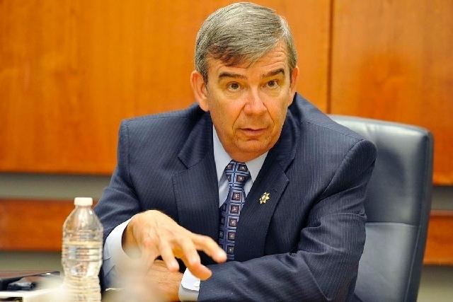 Clark County Doug Gillespie announced Monday that he will not seek a third term. (Mark Damon/Las Vegas Review-Journal)