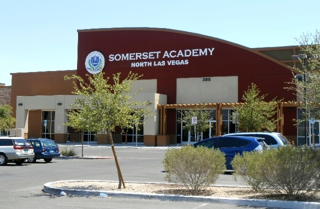 JAMES DEHAVEN/VIEW Somerset Academy of Las Vegas, 385 W. Centennial Parkway, North Las Vegas, was rated as one of the 10 best performing charter schools in Nevada in a recent report released by St ...