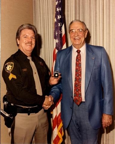Bobby G with Sheriff John Moran in 1994.