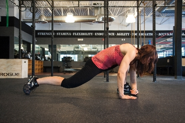 Perform 10 to 20 reps for one to two sets. If the hips are too tight to allow the foot to come up to hand level, then regress this stretch by bringing the foot up as high as can be managed and the ...