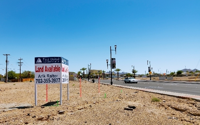 The Water Street entrance to downtown Henderson off Lake Mead Parkway is getting attention as officials from the city of Henderson consider ideas for redevelopment.