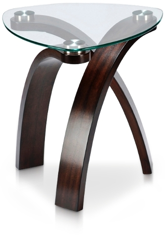 With its glass top, the Allure end table is visually lighter and contributes to the clean, uncluttered look of modern and contemporary styling.