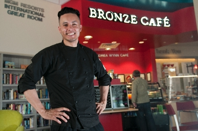 Peter Bastian is owner and executive chef at Bronze Cafe at The Center, the short name for the Gay and Lesbian Community Center.