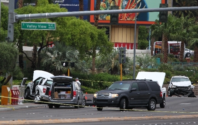 Jesus Manuel Magdaleno Jr. of Visalia, Calif., a California highway patrolman, died Sunday in a traffic accident at the entrance to the Rio hotel on Flamingo Road. Magdaleno and Felix Brandon Cruz ...