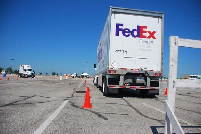 Jeff Dionne, a Las Vegas-based FedEx Freight driver, is competing in the National Truck Driving Championships starting today in Salt Lake City. The event is sponsored by American Trucking Associat ...