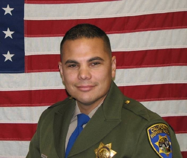 Officer Jesus Manuel Magdelano of Visalia, Calif., died Sunday in a traffic accident near Flamingo Road and Valley View Boulevard. Magdelano, 33, was an eight-year veteran of the California Highwa ...