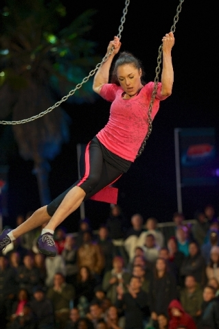 "Las Vegan Erika Schwarz is a finalist on ""American Ninja Warrior."" The finals begin airing at 9 p.m. Sunday on G4. (brandon hickman/nbc)"