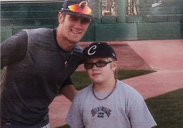 Trace Evans, right, is shown with Bryce Harper during the Junior College World Series in May 2009 while Harper was playing for College of Southern Nevada. Evans last week set a record by hitting 1 ...