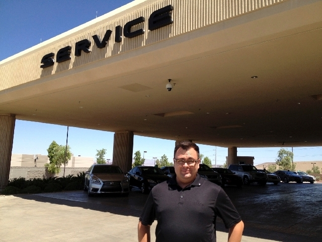 Technology specialist Frank Smith of Lexus of Henderson is customers' go-to person for help in understanding all the technological features of their vehicles.