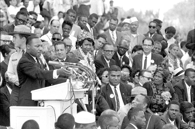 """Martin Luther King Jr. delivers his """"I Have a Dream"""" in Washington, D.C., on Aug. 28, 1963. (ASSOCIATED PRESS FILE PHOTO)"""